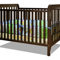 AFG Naomi 4-in-1 Baby Crib with Guardrail