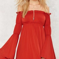 Nasty Gal Far and Oasis Off the Shoulder Dress