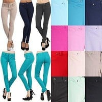 Sexy Skinny Stretch Jeggings Slim Fit Colors Skinny Jeans Leggings Pencil Tights