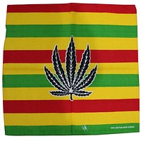 Free Shipping 2017 Male Hip Hop Weed Striped Bandana For Mens