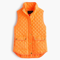 J.Crew Womens Shiny Quilted Field Puffer Vest