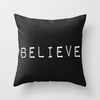 Believe Throw Pillow by Amber Rose | Society6