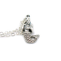 Mermaid Necklace, Charm Necklace, Charm Jewelry, Mermaid Pendant, Mermaid Charm, Fantasy Necklace, Mermaid Jewelry, Mermaid, Gift Under 20