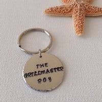 Grillmaster keyring, grilling keyring, gifts for cooks, gifts for men, Father's Day, cookouts
