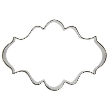 Scallop Rectangle Plaque Cookie Cutter