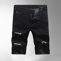 Summer Men's Fashion Slim Denim Shorts Men Jeans [6528366531]