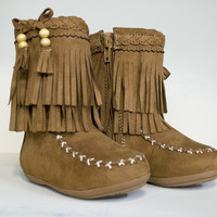 Happy Hazel Moccasin Girls Boots
