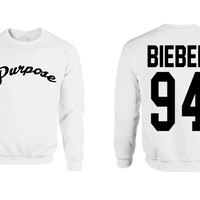 Justin Purpose Shirt Justin Bieber 94 Crewneck Sweatshirt women