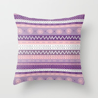 purple craze; Throw Pillow by Pink Berry Patterns