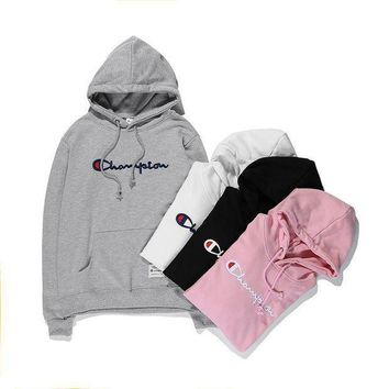 DCCK Champion Hooded Women Men Embroidery Top Sweater Hoodie