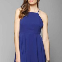Silence + Noise Chiffon High-Neck Apron Dress-