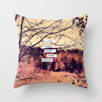 Wide Open Spaces II Throw Pillow by Rachel Burbee | Society6