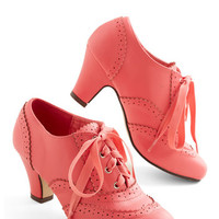 ModCloth Vintage Inspired Dance Instead of Walking Heel in Pink