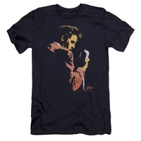 Elvis Presley Premium Canvas T-Shirt Singing Navy Tee