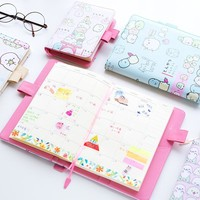 New Arrival A5 B6 Cute Molang Notebook Weekly Monthly Planner Calendar Kawaii Stationery Agenda Book School Office Supplies Gift