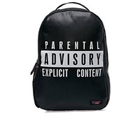Urban Junk Parental Advisory Explicit Content Warning EXPLICIT Backpack