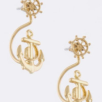 Curved Anchor Earrings