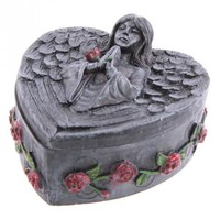 Gothic Dark Angel Heart Shaped Trinket Box  at Every Witch Way Online Shop