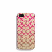 BOXED IPHONE 5 CASE IN OMBRE SIGNATURE PRINT