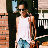 SIMPLE - Women Summer Sexy Loose Solid Women Tank Top a10923