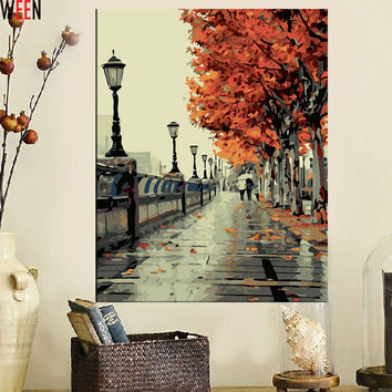 DIY Wall Decor Paint by Numbers Landscape Decoracion Hogar Canvas Art Oil Painting Coloring by Numbers on Canvas Paintings
