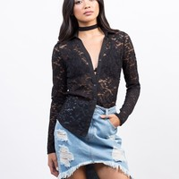 Lacey Romantic Button Down Top
