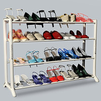Neatlizer Shoe Rack Organizer Storage Bench, Store up to 20 Pairs for Closet Cabinet or Entryway