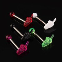 30 Multi Colors Acrylic Hand Tongue Bar Ring Barbell Body Piercing: Amazon.ca: Health & Personal Care
