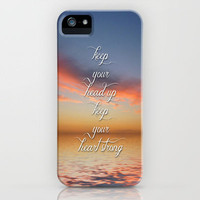 Keep Your Head Up iPhone Case by Ally Coxon | Society6