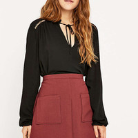 Staring at Stars Black Poet Blouse - Urban Outfitters