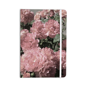 """Susan Sanders """"Blush Pink Flowers"""" Floral Photography Everything Notebook"""
