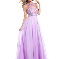 High Neck With Sheer Back Formal Prom Dress By Rachel Allan 6956