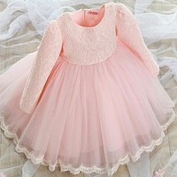 New Baby Girls Dress Fashion Dress For Girl Princess Party Dress For Baby Girl Full Sleeve Kids Clothes Cosplay Costume Dress