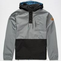 Adidas Silas Mens Windbreaker Grey/Black  In Sizes