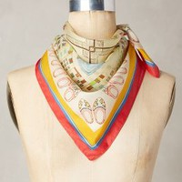 Netherlands Silk Kerchief by Anthropologie in Yellow Size: One Size Accessories