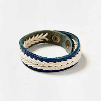 Blue Bay Leather Bracelet- Blue One