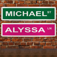 Personalized Street Sign Wall Sign