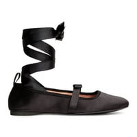 H&M Ballet Flats with Lacing $24.99