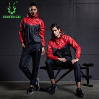 Vansydical Sports Suits Womens Mens Gym Clothes Fitness Running Sets Lose Weight Quick Sweating Sportswear Jogging Suits