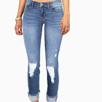 Shred Edge Ankle Jeans