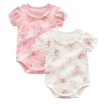 Cotton Floral Baby Girl Onesuit