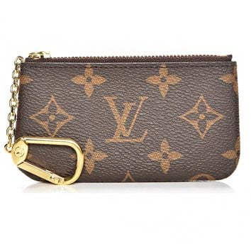 Fashion LV Louis Vuitton Four Color Tartan Print Coin Purse Key Pouch