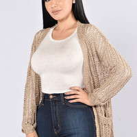 Good To Me Cardigan - Mocha