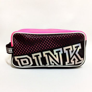 """"""" Pink  """" Printed Make Up Victoria's Secret Like Travel Cosmetic Make Up Toiletry Holder Beauty Wash Organizer Storage Purse Bag Monopoly Pouch Purse _ 9306"""