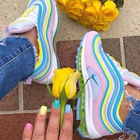 Nike Air Max 97 Hot Sale Women Casual Rainbow Running Sport Shoes