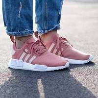 """Adidas"" NMD Fashion Trending Women Leisure Running Sports Shoes (6-color) Pink White I"