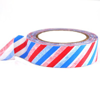 Red White and Blue Airmail Stripe Washi Tape | 36 Feet