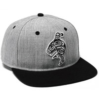 Snapback Hat with Killer Whale designed by Ernest Swanson, Haida