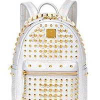 MCM Women's Stark Pearl Stud Backpack