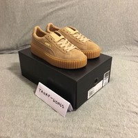 Puma Suede Creepers Fenty By Rihannna UK 4 6 Gum Tan Brown Authentic Creeper